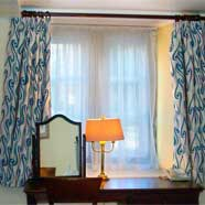 Contract curtains by Victoria Fabrics for a local manor hotel.