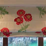 Roman blind made by Victoria Fabrics in Wotton-under-Edge.
