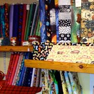 Fabrics galore available from Victoria Fabrics in Wotton-under-Edge..