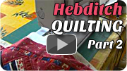 Betty Hebditch from Victoria Fabrics demonstrates how to put a quilt together (part 2).