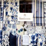 Sanderson display window. Don't forget that you can order paints as well as fabrics from our Sanderson collection (next day delivery).