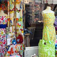 Dressmaking and Toys window, Spring 2016.