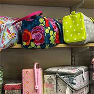 Knitting bags and sewing cases from Victoria Fabrics.