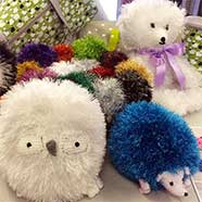 Charming sparkly toys and the patterns to knit them with Tinsel Chunky at  Victoria Fabrics.